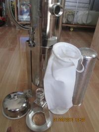 Bình inox lọc nước mắm